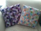 Purple and pastels cushions